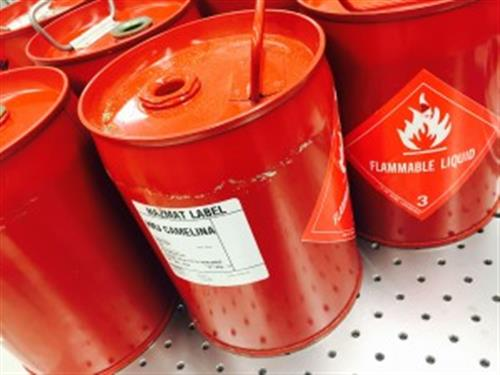 Drums of flammable material
